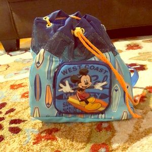 Disney Mickey Mouse kids mini backpack beach bag
